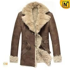 mens fur lined trench coat cwmalls com
