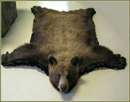 bear skin rug polar style rugs without head