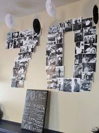 70 photo collage from dad s milestone 70th birthday party décor black white and gray chevron color scheme or visit fabeveryday for more