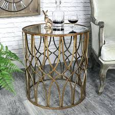 vintage mirror coffee table antique gold round metal side table with mirrored top vintage chic furniture