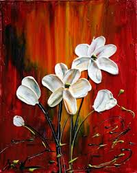 art delicate flowers oil painting by artist luiza vizoli