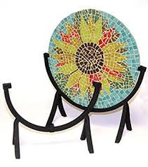 Art Glass Display Stands Mongo's Art Glassville Mosaic Fused Glass Display Stand 56