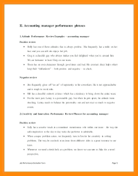 Review Examples For Employees Performance Review Phrases Comments Free Download Examples Page 2 3