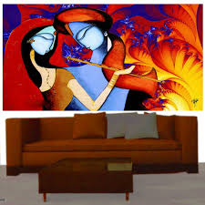 Small Picture Buy Ray Decors Radha Krishna On Canvas In Modern Matte Finish Art
