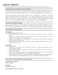Technical Designer Resumes Web Designer Resume