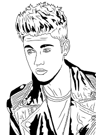 Justin Bieber Coloring Pages 2014ll L
