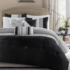 madison park infinity black grey 6 piece duvet cover set