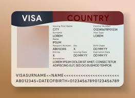 usa visa template immigration doent
