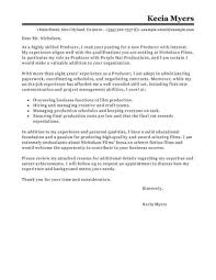 Best Media Entertainment Cover Letter Examples Livecareer Format