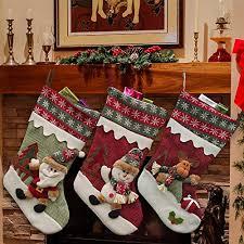 christmas stocking set. Wonderful Christmas YAMUDA Set Of 3pcs Christmas Stockings Day With Stocking K