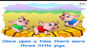 short animated story three little pigs english