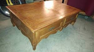 ethan allen large coffee table solid