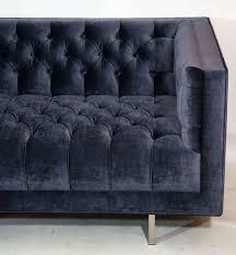 modern tufted velvet sofa for sale at stdibs