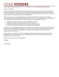 sample cover letters teachers collection of solutions teaching assistant cover letter sample with