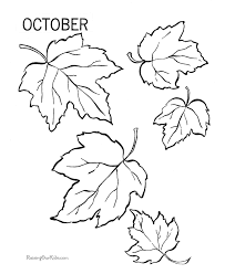 Small Picture Autumn Leaves Coloring Pages