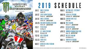 Supercross Seating Chart Check Out The Layouts For The 2019 Supercross Tracks