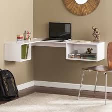 wall desks home office. fynn wall mount corner desk white desks home office shop regarding mounted