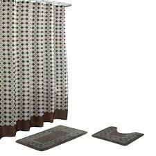 bath fusion christine chocolate sage bath rug and shower curtain set 15 piece
