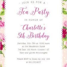 Kids Tea Party Invitation Wording Joint Birthday Party Invitation Wording Personalised Childrens