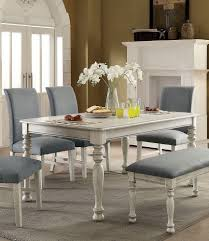 Amazoncom Siobhan Ii Antique White Wood Dining Table By Furniture