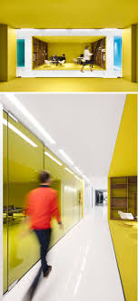 colorful office space interior design. This Contemporary And Open-concept Office Design Is Mostly White, However Bold Pops Of Colorful Space Interior D