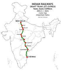 Indian Railway Route Chart Tamil Nadu Express Wikipedia