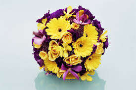 yellow and purple flower arrangements purple and yellow wedding flowers the  wedding specialiststhe online