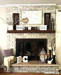 painted brick fireplace colors brick fireplace makeover