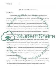 domestic violence essay domestic violence at com police discretion in domestic violence research paper