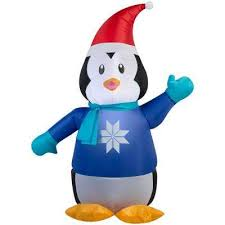 penguin christmas inflatables outdoor christmas decorations