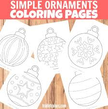 See related christmas coloring pages. Simple Christmas Ornaments Coloring Page For Kids Trail Of Colors