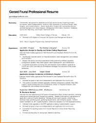8 Professional Summary Resume Sample Letter Of Apeal
