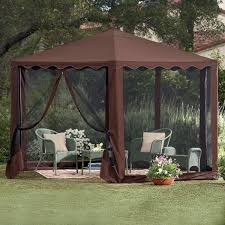 Outdoor Bathroom Tent Country Style Patio Ideas With Brown Waterproof Gazebo Tent At Bed