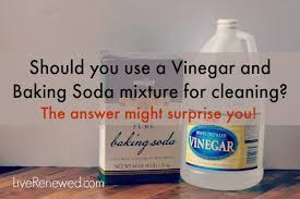 How to clean with baking soda, vinegar and water