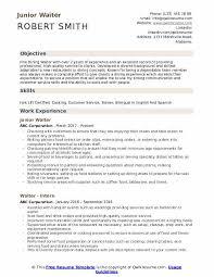 Waitressing Resume Waiter Resume Samples Qwikresume