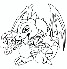 Baby Dragon Coloring Pages Breathing Fire Coloringstar
