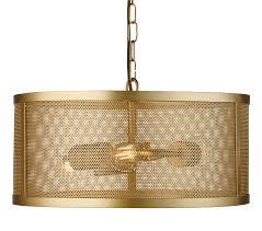 searchlight fishnet 3 light drum