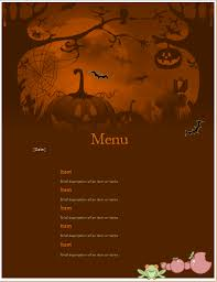 Word Halloween Templates Ms Word Halloween Party Menu Sheet Word Excel Templates