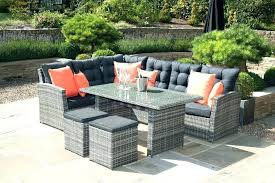 outdoor wicker chair cushion covers furniture rattan cube new corner patio for garden 5 kitchen adorable elega