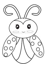 Small Picture Ladybug Coloring Page Stock Illustration Image 50278089