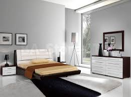 Furniture: White Contemporary Bedroom Furniture With Arched Bed ...