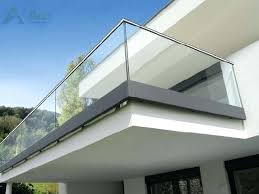 frameless glass railing system u channel glass barade u base shoe glass railing system fsc frameless