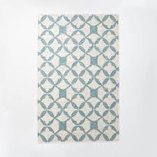 brand new tile wool kilim rug aquamarine west elm ik86