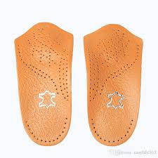 200 leather insole arch support orthopedic insoles leather latex shoe pad flat foot correct 3 4 length orthotic insole feet care