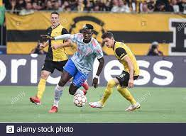 14.09.2021, Bern, Wankdorf, CL: BSC Young Boys - Manchester United, # 6  Paul Pogba (Manchester United) gegen #
