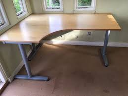 office corner desk ikea galant with t legs left hand in