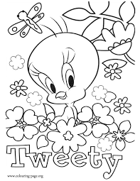 Small Picture Printable Tweety Bird Coloring Pages Coloring Home
