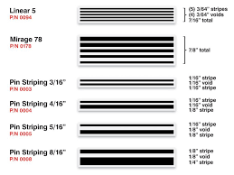 Universal Products Vinyl Color Chart Striping Universal Products Inc