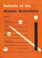 er of the 1947 bulletin of the atomic scientists issue featuring the doomsday clock at seven minutes to midnight