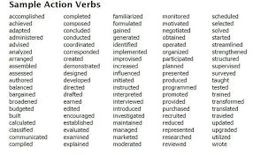 Examples of Strong Action Verbs